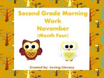 Second Grade Morning Work November