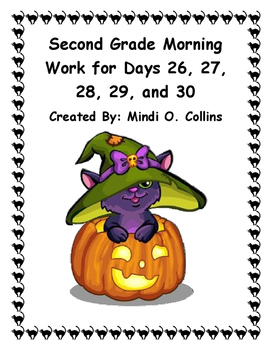 Second Grade Morning Work for Days 26, 27, 28, 29, and 30