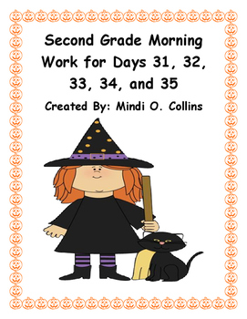 Second Grade Morning Work for Days 31, 32, 33, 34, and 35