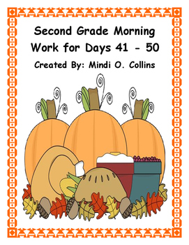 Second Grade Morning Work for Days 41-50