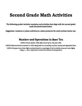 Second Grade NBT Activities