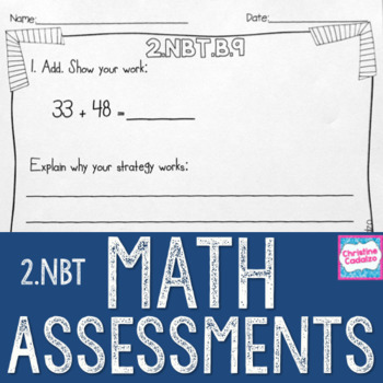 Math Assessments - Second Grade Base Ten