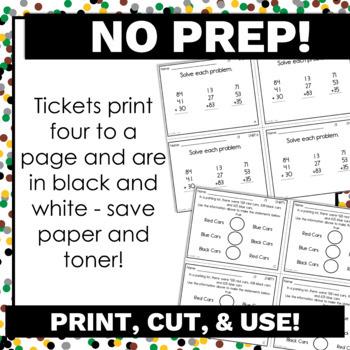 2nd Grade Math Exit Tickets for Every NBT Standard