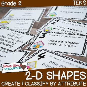 Second Grade NEW Math TEKS 2.8AC: Create/Classify 2D Shape