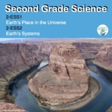 Second Grade NGSS 2-ESS1 Earth's Place in the Universe and ESS2 Earth's Systems