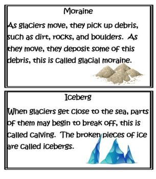 Second Grade Earth and Space Science -Glaciers and Water