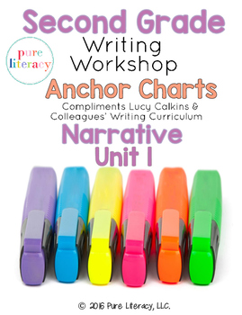 Second Grade Narrative Writing Anchor Charts {Lucy Calkins
