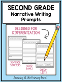 Second Grade Narrative Writing Prompts For Differentiation