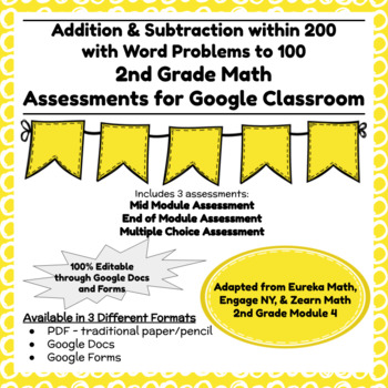 Engage NY Second Grade New York State Math Module 4 Assessment