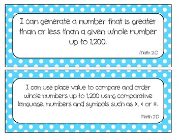 Second Grade Newly Revised Math TEKS~ Bright Aqua