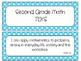 Second Grade Newly Revised Math TEKS~ Bright Aqua