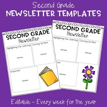 Second Grade Newsletter Templates