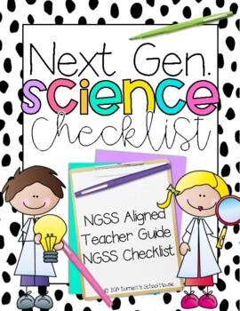 Second Grade Next Generation Science Standards Checklist 2nd Grade {FREEBIE}