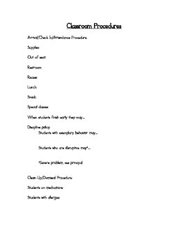 Second Grade No Prep Editable Elementary Substitute Emergency Lesson Plan, Day 1