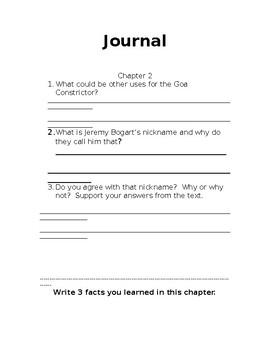 Second Grade Novel Study