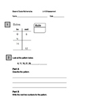 Second Grade Number and Geometric Pattern Assessment