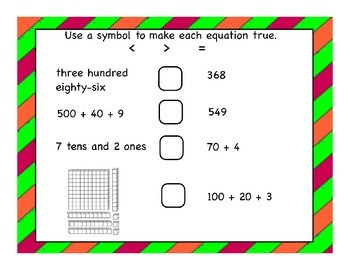 Second Grade Number and Operations in Base Ten