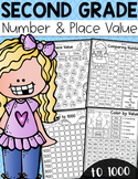 Second Grade Numbers and Place Value Worksheets