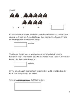 Second Grade OA Benchmark