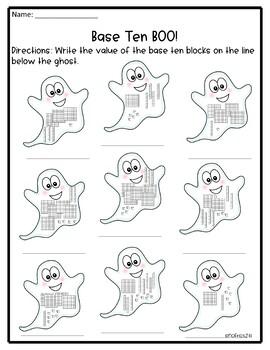 Second Grade October Math NO PREP Printables
