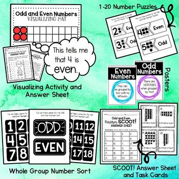 Odd and Even Unit- Complete Resource for 2.OA.C.3