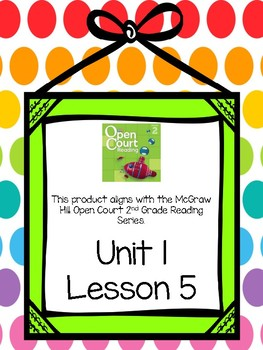Second Grade Open Court Reading Comprehension and Vocabulary Unit 1 Lesson 5