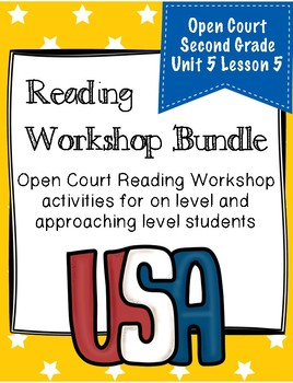 Second Grade Open Court Reading Workshop Bundle Unit 5 Lesson 5