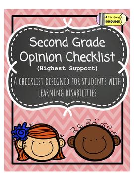 Second Grade Opinion Checklist