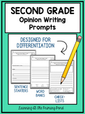 Second Grade Opinion Writing Prompts For Differentiation
