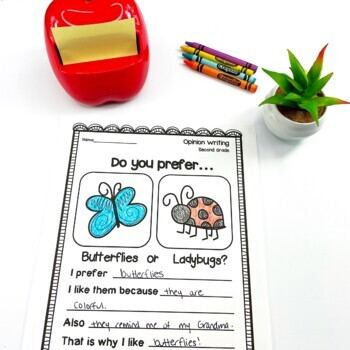 Second Grade Opinion Writing Prompts/Worksheets by ...