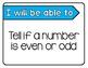 Second Grade Origo Math Objective Statements-Focus Wall