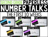 Second Grade PAPERLESS NUMBER TALKS- The First 10 Weeks