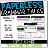 Second Grade PAPERLESS Grammar Talks- The Third 10 Weeks
