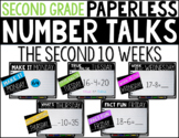 Second Grade PAPERLESS NUMBER TALKS- The Second 10 Weeks