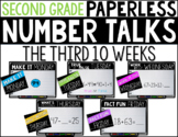 Second Grade PAPERLESS NUMBER TALKS- The Third 10 Weeks
