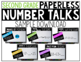 Second Grade PAPERLESS Number Talks Sample Week