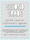 Second Grade Parent-Teacher Conference Agenda