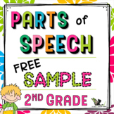 Second Grade Parts of Speech Free Sample
