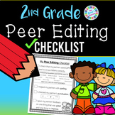 Second Grade Peer Editing Checklist