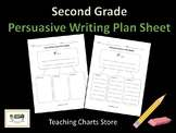 Second Grade Persuasive Essay Writing Plan Sheet (Lucy Calkins Inspired)