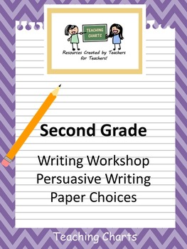 Second Grade Persuasive Writing Paper (Lucy Calkins Inspired)