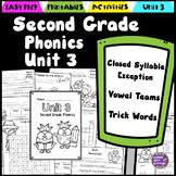 Second Grade Phonics Unit 3 - Closed Exception, Vowel Teams, Trick Words