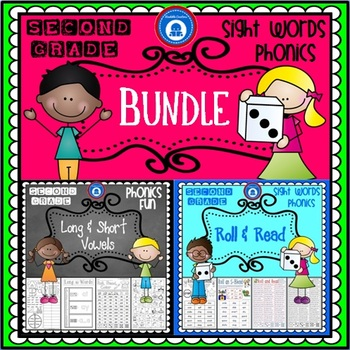 Second Grade Phonics & Sight Word Bundle