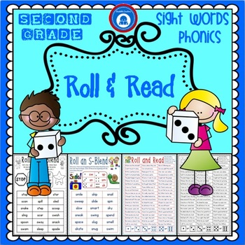 Second Grade Phonics & Sight Word Pack - Roll and Read