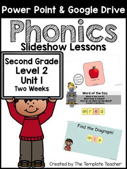 Second Grade Phonics Slideshow Lessons - Unit 1 Week 2 Days 1 - 6