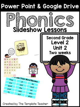 Second Grade Phonics Slideshow Lessons - Unit 2 Week 1