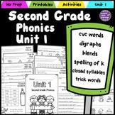 Second Grade Phonics - Unit 1 CVC Words, Digraphs, Blends