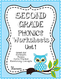 Second Grade Phonics Unit 1 Worksheets