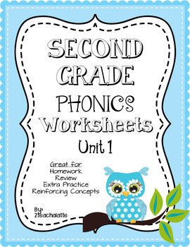 Second Grade Phonics Unit 1 Worksheets