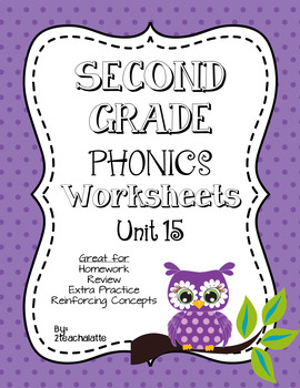 Second Grade Phonics Unit 15 Worksheets